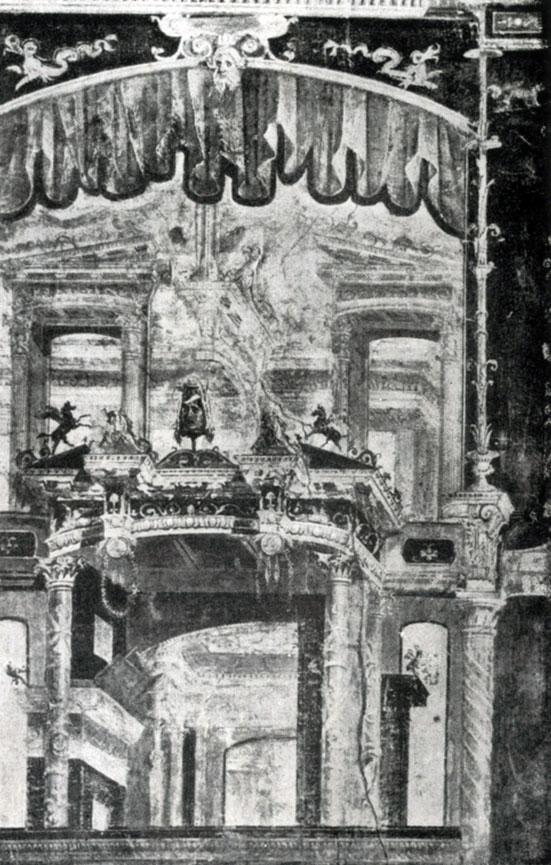281 6. Помпейская роспись четвертого стиля из Геркуланума. Третья четверть 1 в. н. э. Неаполь. Музей.